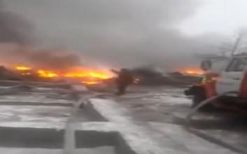 Αεροσκάφος συνετρίβη σε σπίτια στο Κιργιστάν