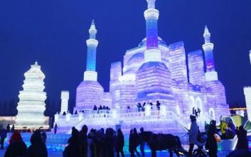 Η παγωμένη πόλη Χαρμπίν στη Κίνα