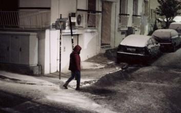 Κυκλοφοριακά προβλήματα στην Αττική λόγω χιονόπτωσης