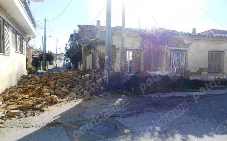 Κατέρρευσε κατοικία σαν χάρτινος πύργος στην Αμαλιάδα