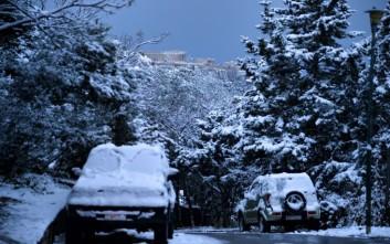 Πυκνή χιονόπτωση στην Αλεξανδρούπολη