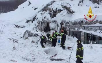 Επτά οι νεκροί από τη φονική χιονοστιβάδα στο Rigopiano