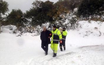 Πυροσβέστες διέσωσαν έναν άντρα και τον σκύλο του στην Σκόπελο