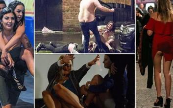 Αλκοόλ, έκτροπα και σκηνές απείρου κάλους στη Βρετανία την αυγή του 2017
