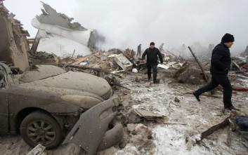 Οι πρώτες εικόνες από τη συντριβή αεροσκάφους στο Κιργιστάν