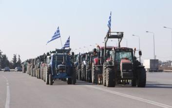 Τριπλό «μπλόκο» της αστυνομίας στους αγρότες των Σερρών