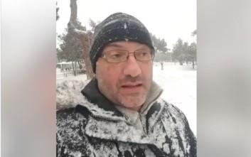 Ο Σάκης Αρναούτογλου στα χιόνια προβλέπει τον καιρό