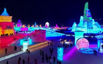 Μια πόλη από πάγο στο εντυπωσιακό φεστιβάλ της Κίνας