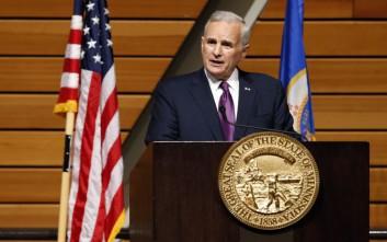 Κατέρρευσε στο βήμα ο κυβερνήτης της Μινεσότα