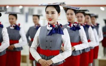 Η εκπαίδευση των αεροσυνοδών στην Κίνα