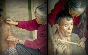Η τελευταία κάτοχος της αρχαίας τέχνης του τατουάζ Καλίνγκα