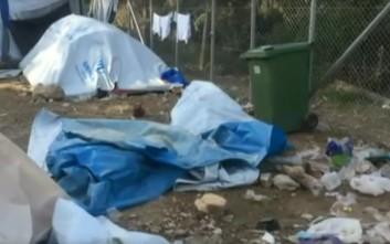 Κρύο και σκουπίδια στο hotspot της Σάμου