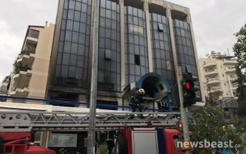 Πυρκαγιά ξέσπασε σε κτίριο στο Γαλάτσι
