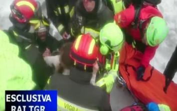 Πρώτες εικόνες των επιζώντων που βγήκαν από το ξενοδοχείο στην Ιταλία
