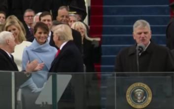 Το χαμόγελο της Μελάνια στον Τραμπ που πυροδότησε σενάρια