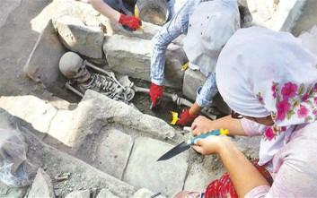 Ανακαλύφθηκαν 65 τάφοι στην αρχαία πόλη Στρατονίκεια