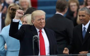 Καρέ καρέ η μέρα της ορκωμοσίας του Ντόναλντ Τραμπ