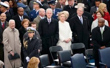 Η παρουσία της Χίλαρι στην ορκωμοσία Τραμπ