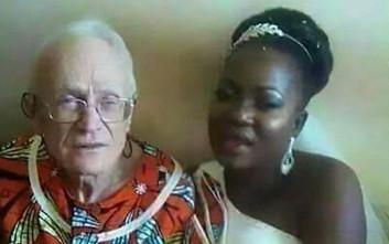 Η γαμήλια φωτογραφία της 29χρονης νύφης και του 92χρονου γαμπρού που έγινε viral