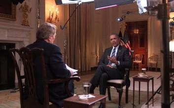 Ομπάμα: Δεν μετανιώνω για όσα είπα σχετικά με τα χημικά όπλα του Άσαντ