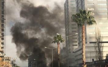 Η στιγμή της ισχυρής έκρηξης στη Σμύρνη