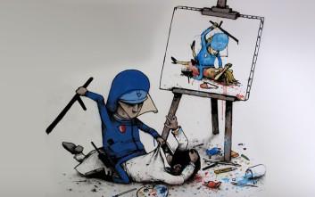 Ο «Γάλλος Banksy» που κριτικάρει τη σύγχρονη ζωή με τα έργα του