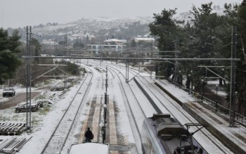 Σε επιφυλακή το σιδηροδρομικό δίκτυο λόγω του χιονιά