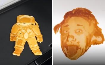 Το ρομπότ που μετατρέπει τις τηγανίτες σε έργο τέχνης