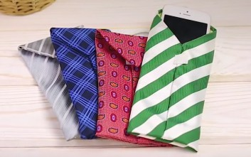 Φτιάξτε θήκη κινητού από γραβάτα