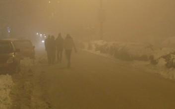 Τοπίο στην ομίχλη τα Γιάννενα