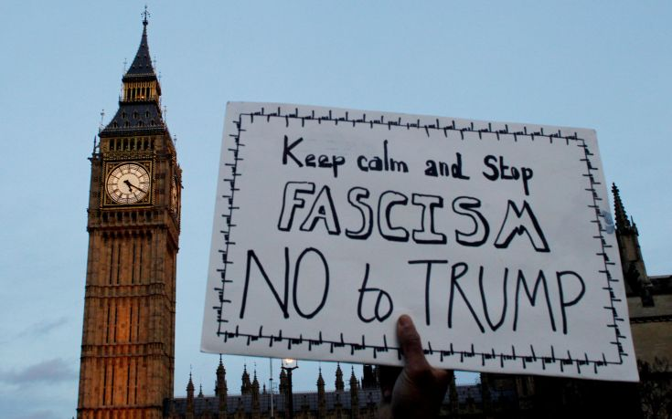 Μεγάλη αντι – Τραμπ διαδήλωση στο Λονδίνο