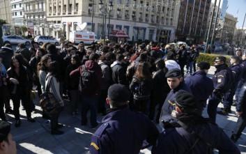 Διαμαρτυρία φοιτητών ενάντια στην αναγόρευση Μοσκοβισί ως επίτιμου διδάκτορα του ΕΚΠΑ