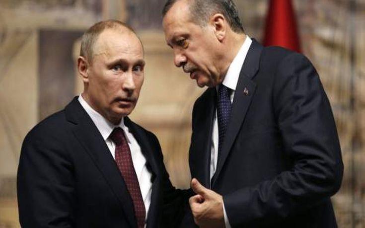 Τηλεφωνική συνομιλία Ερντογάν και Πούτιν