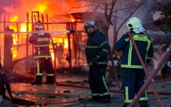Πυρκαγιά σε βιοτεχνία ξυλείας στο Νέο Κόσμο
