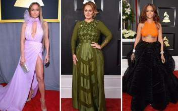 Τι φόρεσαν oι celebrities στο κόκκινο χαλί των Grammy