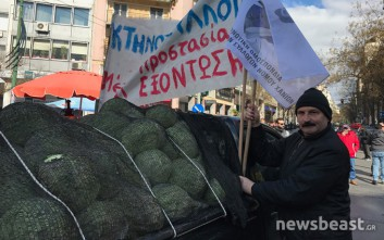 Σε εξέλιξη το συλλαλητήριο των αγροτών στην Αθήνα