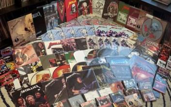 O απόλυτος οπαδός των Metallica και η τεράστια συλλογή του