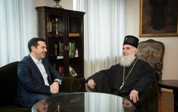 Σε άπταιστα ελληνικά υποδέχθηκε τον Τσίπρα ο Πατριάρχης Ειρηναίος