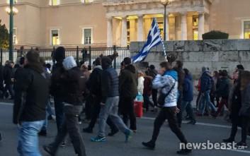 Διαμαρτυρία στην Αθήνα για την κάθειρξη σε μοναχούς της Μονής Εσφιγμένου