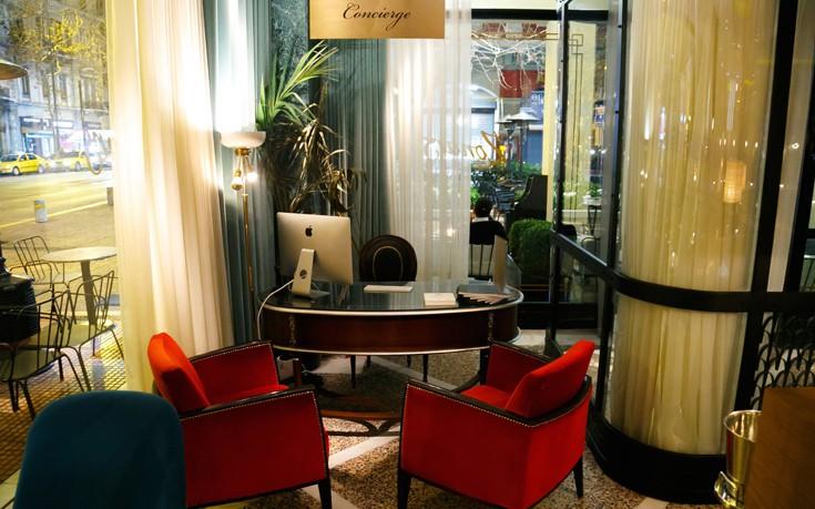 Το Luxury Concierge Desk στο lobby του Zonars