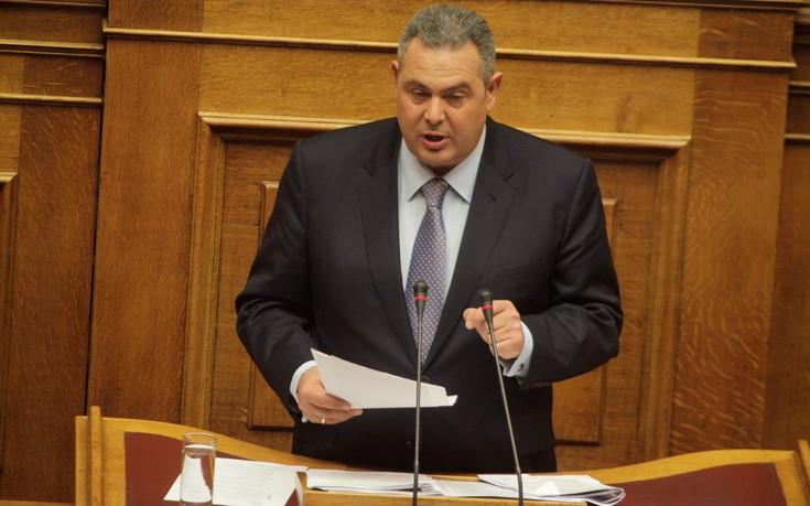 Καμμένος: Η Ελλάδα έχει υποχρέωση να στηρίξει τον κοινό αμυντικό χώρο Ελλάδας - Κύπρου