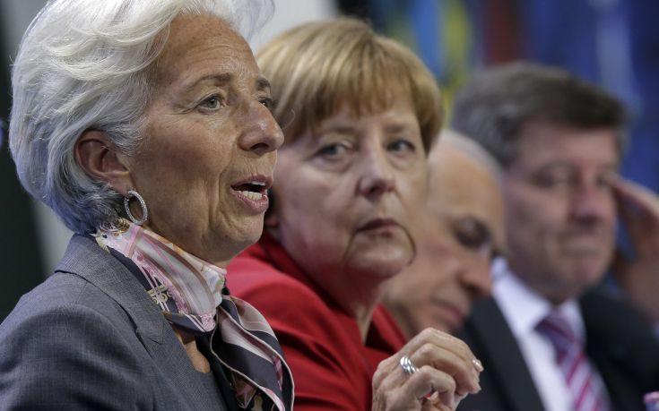 Κριστίν Λαγκάρντ και Άνγκελα Μέρκελ αποφασίζουν στο Βερολίνο για το ελληνικό χρέος