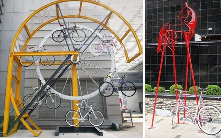 Ευφάνταστα πάρκινγκ για ποδήλατα