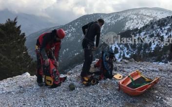 Νεκρή η γυναίκα που έπεσε σε γκρεμό στα Λευκά Όρη