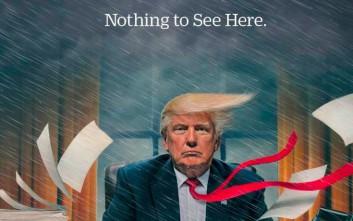 Ένας ταραχώδης μήνας Τραμπ στην προεδρία στο εξώφυλλο του Time