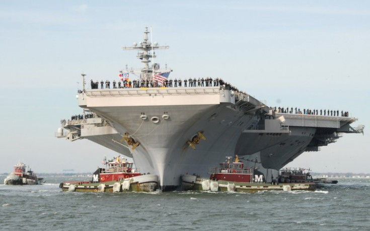 Το αμερικανικό αεροπλανοφόρο George Bush «τύφλωσε» μαχητικά της Τουρκίας