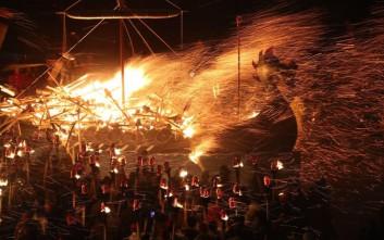 Το εντυπωσιακό φεστιβάλ των Βίκινγκς στα νησιά Σέτλαντ