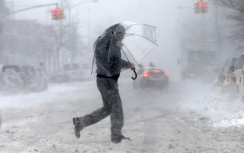 Χιονοθύελλα σαρώνει το βορειανατολικό τμήμα των ΗΠΑ