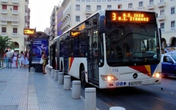 Κανονικά σήμερα τα δρομολόγια του ΟΑΣΘ στο κέντρο της Θεσσαλονίκης