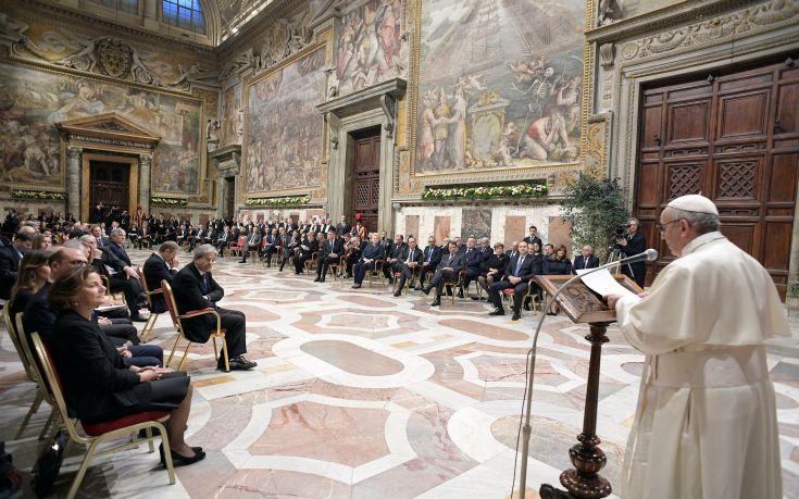 Πάπας Φραγκίσκος: Η αλληλεγγύη είναι το αντίδοτο κατά του λαϊκισμού
